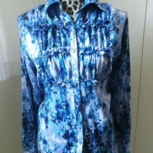 """""""Foxcroft"""" 100% Cotton Wrinkle Free Shaped Fit ."""